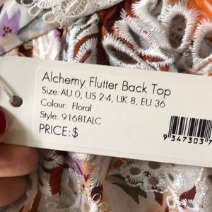 Zimmermann Tops - Zimmerman alchemy flutter back top
